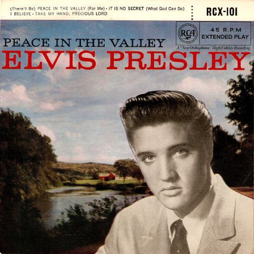 ELVIS PRESLEY Peace In The Valley EP Vinyl Record 7 Inch RCA Victor